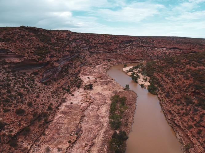 Kalbarri vue drone