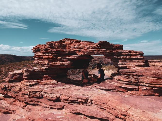 Nature window Kalbarri road trip côte ouest Australie
