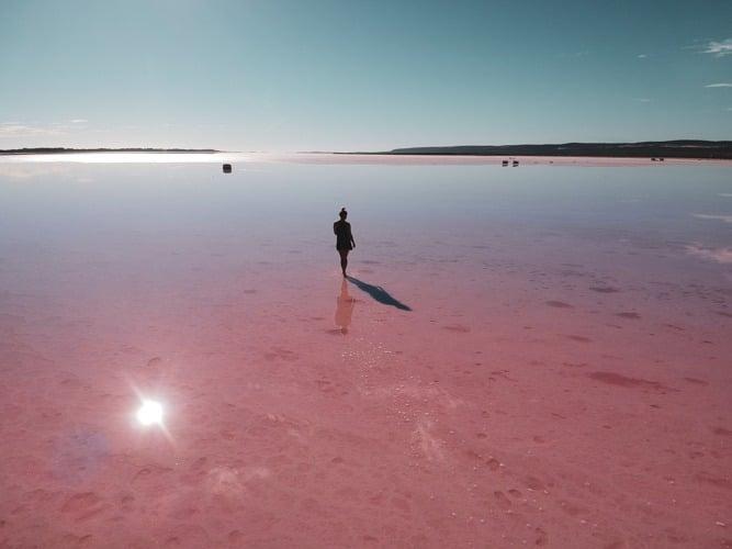 hutt lagoon australie