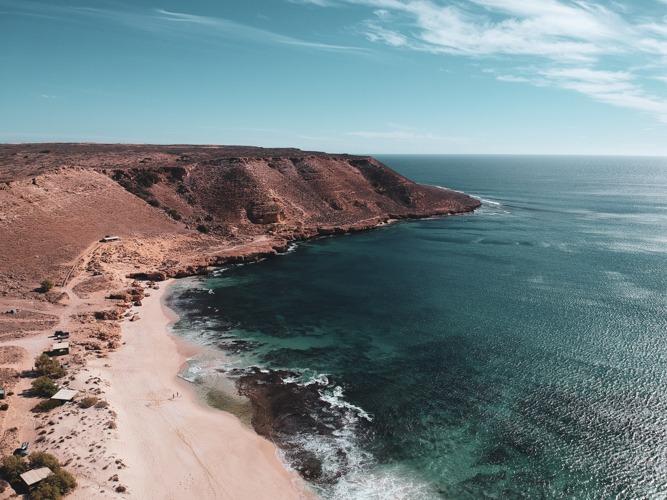 red bluff côte ouest en Australie