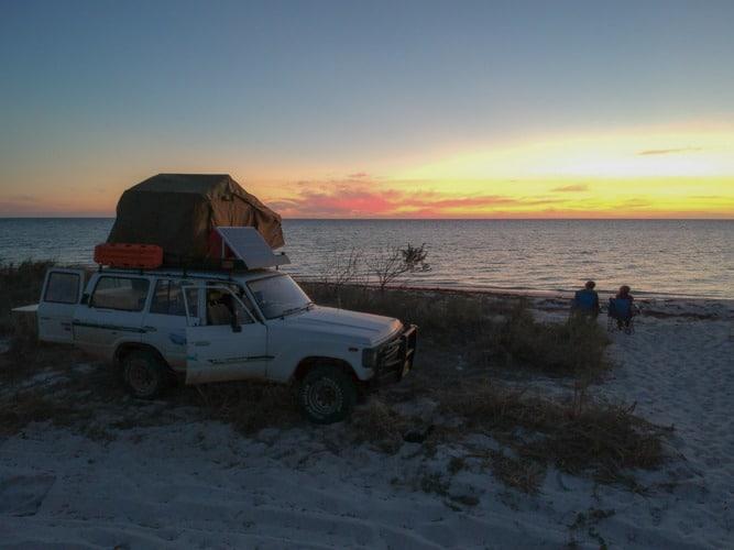 coucher de soleil côte Ouest