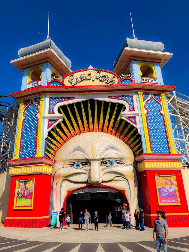 entrée Luna park Visiter Melbourne en deux jours
