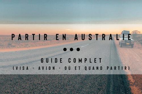 partir en australie guide complet