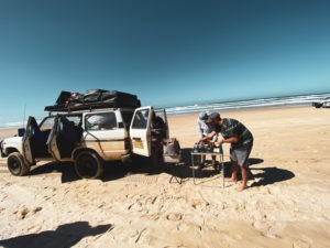 Pique nique à Fraser Island