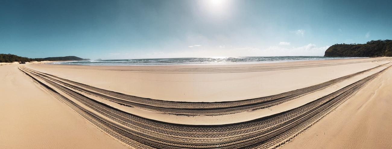 rouler sur le sable