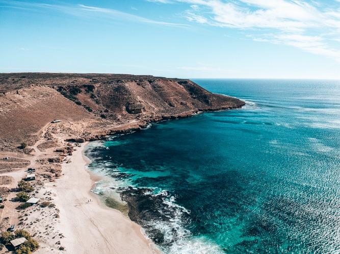 Red bluff plages d'australie