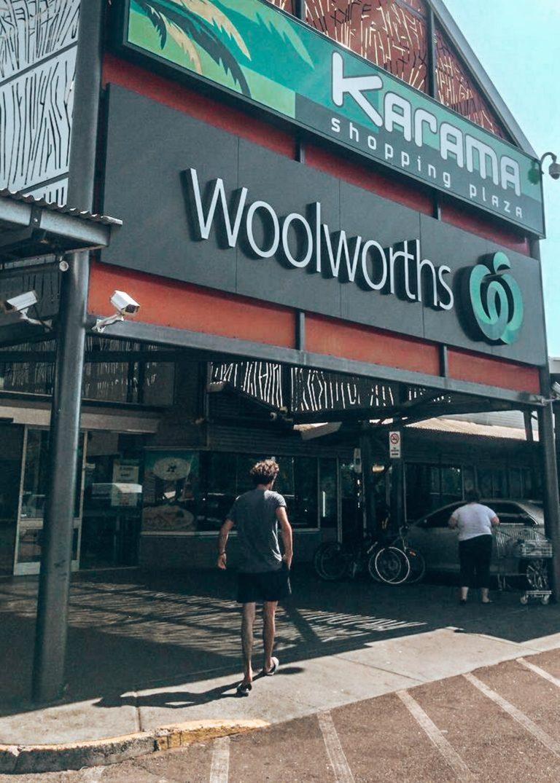 Woolworths magasins road trip australie