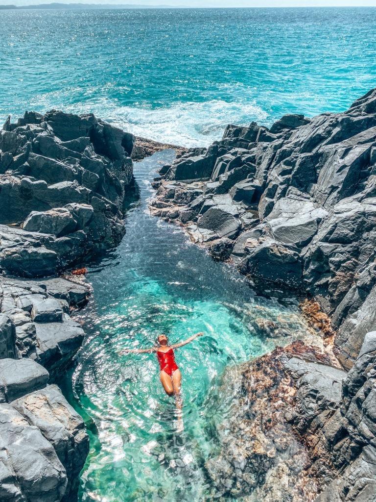 natural pool oad trip côte est en australie