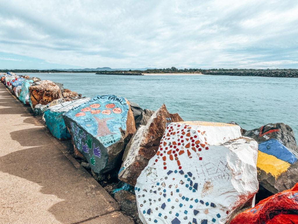 Port Macquarie rocher coloré