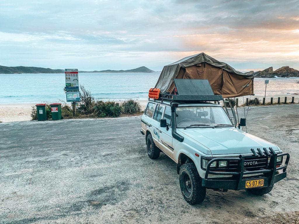 dormir face océan oad trip côte est en australie